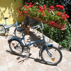 Bicicletă Pegas Practic 3120, pliabilă, cu şa reglabilă, de oraş, în stare bună - Bicicleta pliabile, 21 inch, Numar viteze: 1
