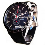 Carrera Day Date Chronograph ! ! ! Silver Case ! ! Cutie Cadou ! ! ! - Ceas barbatesc, Lux - sport, Quartz, Inox, Cauciuc, Cronograf