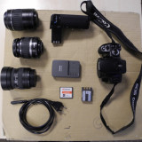 Kit Foto DSLR Canon EOS 400D plus Grip si 3 obiective