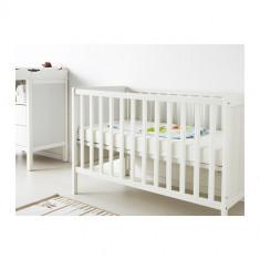 Urgent Patut bebe alb lemn - Patut lemn pentru bebelusi A. Haberkorn, 120x60cm