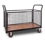 DuraMaxx Ster Grid coș cărucior Depozit cărucior max. 500 kg negru podea de lemn