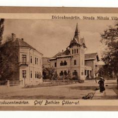 TARNAVENI STR MIHAI VITEAZUL = DICSOSZENTMARTON GROF BETLEHEN GABOR-UT - Carte Postala Transilvania dupa 1918, Necirculata, Printata