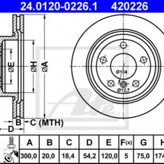 Disc frana BMW Z4 sDrive 20 i - ATE 24.0120-0226.1 - Discuri frana REINZ
