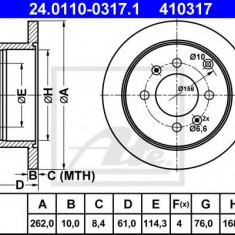 Disc frana HYUNDAI SONATA Mk III 2.7 i V6 - ATE 24.0110-0317.1 - Discuri frana REINZ