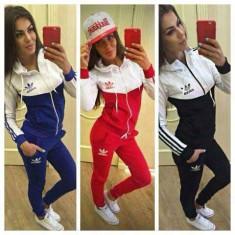 Trening adidas new young dama MODEL TOAMNA-PRIMAVARA 2016 - Trening dama Adidas, Marime: M, L, XL, XXL, Culoare: Bleumarin, Negru, Rosu, Bumbac