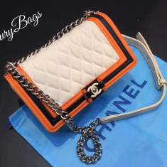 Genti Chanel Le Boy Medium Exotic Collection 2016 * LuxuryBags * - Geanta Dama Chanel, Culoare: Din imagine, Marime: Masura unica, Geanta de umar, Panza