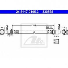 Furtun frana OPEL VECTRA A hatchback 88 89 PRODUCATOR ATE 24.5117-0195.3