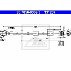 Furtun frana JAGUAR X TYPE CF1 PRODUCATOR ATE 83.7856-0369.3