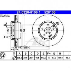 Disc frana MERCEDES-BENZ E CLASS W210 PRODUCATOR ATE 24.0328-0106.1 - Discuri frana