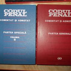 CODUL PENAL AL ROMANIEI * COMENTAT SI ADNOTAT( GENERALA + SPECIALA 2) -1972/1977 - Carte Codul penal adnotat
