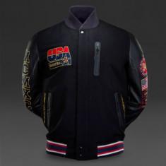 Geaca Nike Team USA Basketball Destroyer Varsity Jacket, Autentic, Nou ! - Geaca barbati Nike, Marime: S, Culoare: Din imagine, Piele
