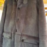 Vand haina piele barbati - pentru sezonul rece - Palton barbati Zara, Marime: 54, Culoare: Bleu