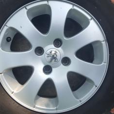 Jante aluminiu Peugeot 15+anvelope+set 16 prezoane - Janta aliaj Peugeot, Numar prezoane: 4
