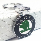 Breloc auto pentru Skoda metal + cutie simpla cadou