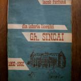 DIN ISTORIA LICEULUI GH.SINCAI (dedicatie/semnatura autor)