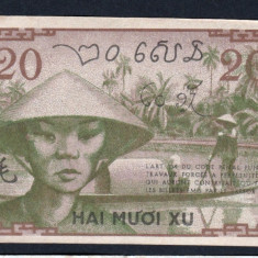 Indochina Franceza20 Cents ND 1939 - bancnota asia