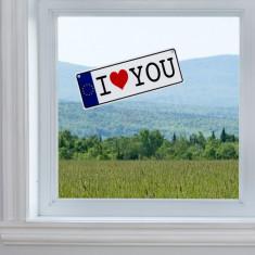 Placă de înmatriculare I Love You cu Ventuză - Ornament Auto