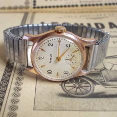 Ceas rusesc de colectie POBEDA auriu cal. ZIM 2602, anii 50, functional - Ceas de mana