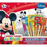 Set creativ Mickey Mouse Club - Ghiozdan