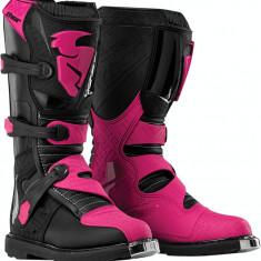 MXE Cizme motocross dame Thor Blitz, negru/magenta Cod Produs: 34101478PE