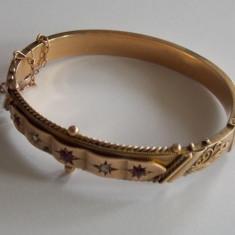 Bratara de aur vintage -9k - Bratara aur, Culoare Aur: Galben, 9 carate