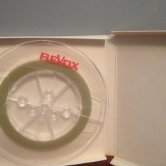 Banda Magnetofon(capete) REVOX + cutie Originala - diametru rola 180 - Perfecta