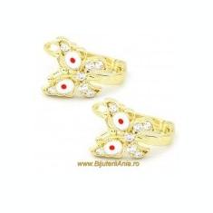 Bijuterii aur cercei ieftini copii colectii noi FLUTURAS - Cercei aur