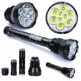 Lanterna profesionala 9 LED CREE XM-L T6 11000 Lumeni