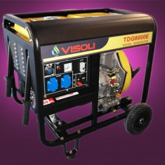 Generator Curent Electric Visoli TDG-6000E 6.5 KVA Motorina Portabil