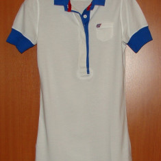 Tricou POLO JEANS by RALPH LAUREN, Marime S - Tricou dama Ralph Lauren, Marime: S, Culoare: Alb, Simplu, Maneca scurta, Casual
