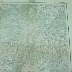 Hateg Transilvania 1916 serviciul geografic al armatei harta militara color - Harta Romaniei