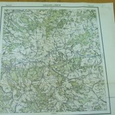 Sighisoara Mures Cristur Hunedoara Transilvania harta militara color - Harta Romaniei