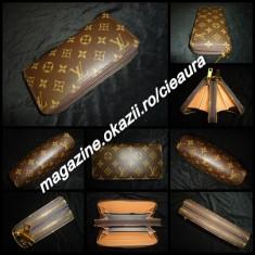 PORTOFEL PLIC DAMA GEN FIRMA LOUIS VUITTON MONOGRAM 2 FERMOARE 17 COMPARTIMENTE - Portofel Dama Louis Vuitton, Culoare: Alb, Maro, Cu inchizatoare