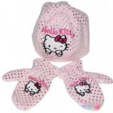 Caciula cu manusi Hello Kitty roz 3096 Disney 50 cm (2-3 ani) - Caciula Copii