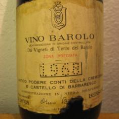 BAROLO, bersano, vigneti terre del barolo, doc, cl 72, gr 13, 5 recolatare 1968 - Vinde Colectie, Aroma: Sec, Sortiment: Rosu, Zona: Europa