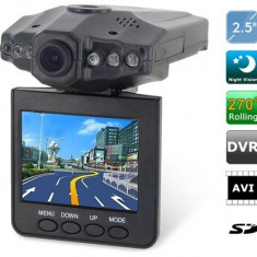 Camera video auto DVR cu inregistrare HD + CARD 8GB, 32GB, Wide, Single, Senzor imagine MP CMOS: 12