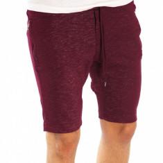 Pantaloni de trening scurti tip ZARA grena - pantaloni barbati 6615 - Bermude barbati, Marime: L, Culoare: Din imagine