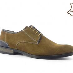 Pantofi barbati din piele intoarsa Maronne HUN-08, 39, 42, 43, 44