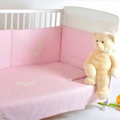 Bebedeco-Lenjerie 3 piese Somn Usor Roz-crem - Lenjerie pat copii