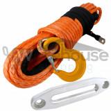 Cablu sintetic troliu  26m x 12mm + Ghidaj  Plasma Off-Road * 10800 KG Testat