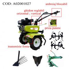 Gardelina Motocultor A02001027, 7 CP, freze, roti, plug LY reversibil, rarita, plug cartofi, cupla, 700-1000 mm