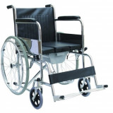 Scaun cu rotile - Fotoliu ( carucior ) rulant de otel cu vas WC