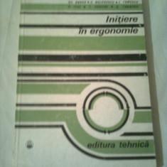 INITIERE IN ERGONOMIE ~ COLECTIV DE AUTORI - Carte Resurse umane