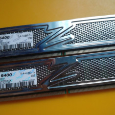 B.Kit 4GB DDR2 Desktop, 2x2GB, OCZ Platinum, 800Mhz, PC2-6400, CL5, Radiator - Memorie RAM Ocz, Dual channel
