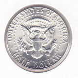 Moneda Statele Unite ale Americii 1/2 Dolar 1969D - KM#202 UNC (argint 0, 400), America de Nord, An: 1969