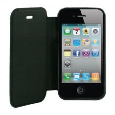 Husa Telefon Atlas, Negru, Piele Ecologica, Toc - Toc Book Samsung Galaxy J1 J100 Negru