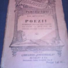 ION MINULESCU - POEZII ROMANTE PENTRU MAI TARZIU 1908 - Carte veche