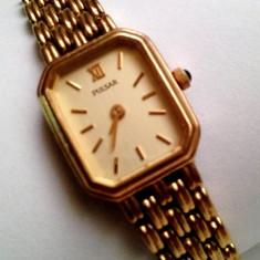 Ceas dama, Elegant, Quartz, Placat cu aur, Placat cu aur, Analog - Pulsar VC10-X004 480127, ceas de dama placat cu aur inclusiv bratara