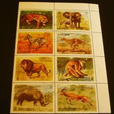 AJMAN 1972 - ANIMALE SALBATICE DIN AFRICA, bloc nestampilat AE119 - Timbre straine