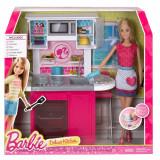 Papusa Barbie Mattel BRB Kitchen & Doll CFB63-CFB62
